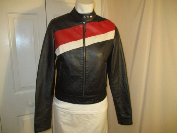 FJ leather moto jacket - image 1