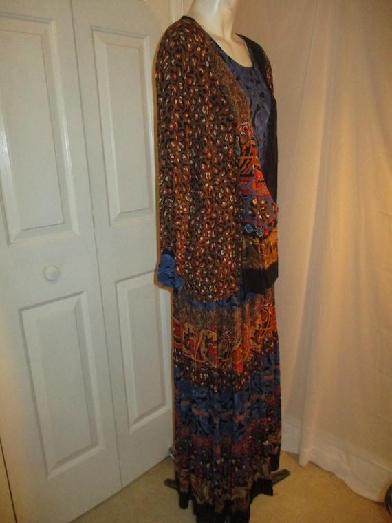 Carole Little boho tiered skirt and tunic - image 5