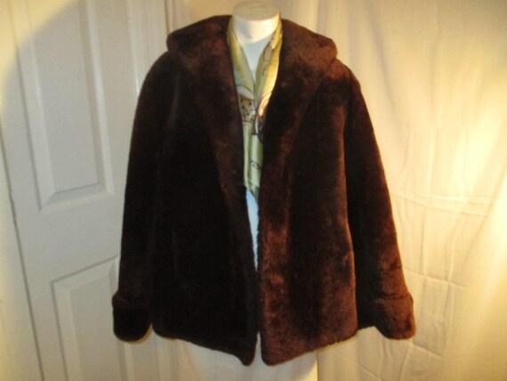 1940's mouton fur coat - image 5