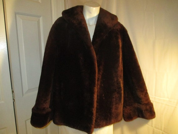 1940's mouton fur coat - image 1