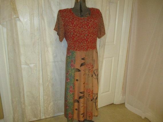 Marisol patchwork boho maxi dress