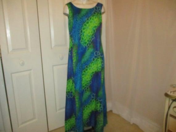 Tropicana Hawaii sleeveless maxi Hawaiian dress