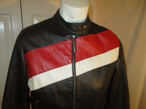 FJ leather moto jacket - image 2