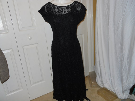 Vintage All That Jazz stretch lace dress