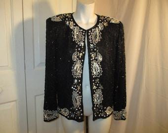 Silky Nites by Cherish beaded jacket