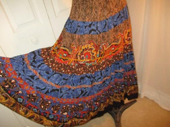 Carole Little boho tiered skirt and tunic - image 9