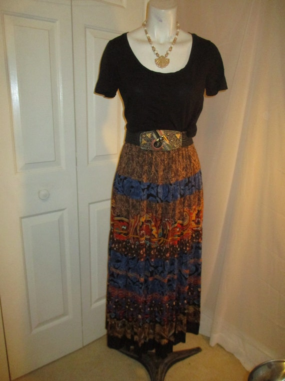 Carole Little boho tiered skirt and tunic - image 8