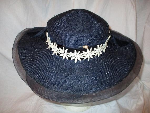 Fisk Chicago wide brim straw hat - image 5
