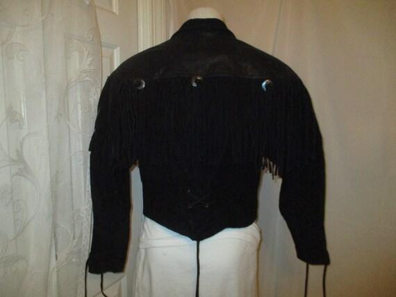 G III fringed cropped leather jacket - image 6