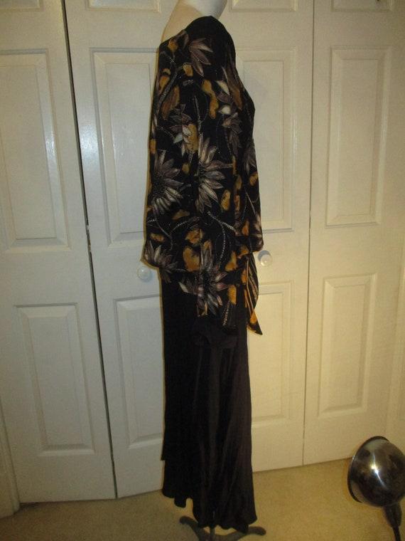 Carole Little sunflower print blouson dress - image 6