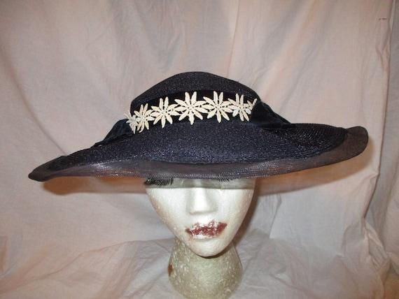 Fisk Chicago wide brim straw hat - image 1