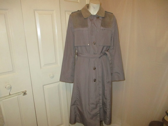 Freddi-Gail belted all weather belted trench coat