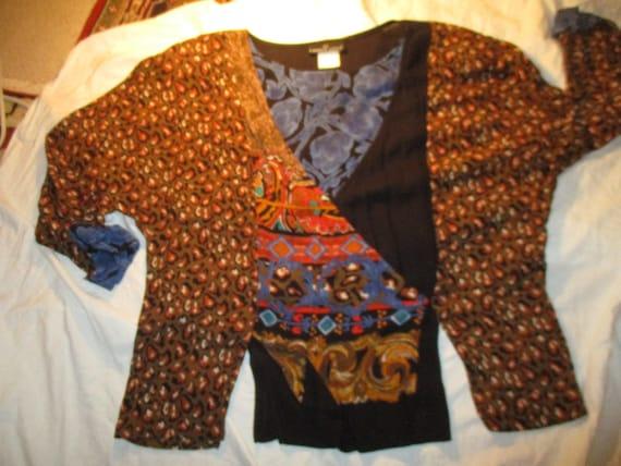 Carole Little boho tiered skirt and tunic - image 10