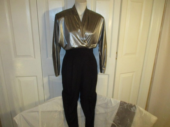Joan Walters metallic jumpsuit