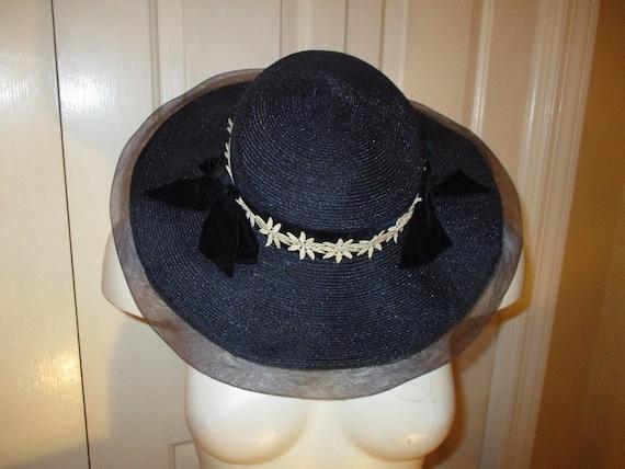 Fisk Chicago wide brim straw hat - image 10