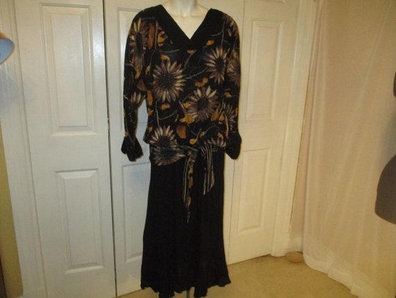 Carole Little sunflower print blouson dress - image 1