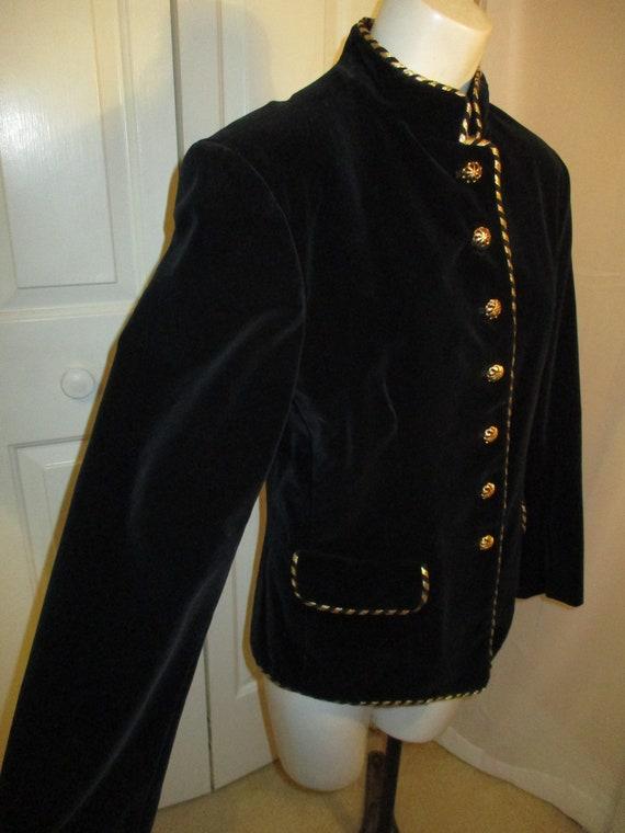 Evan Picone velvet military blazer/jacket - image 6