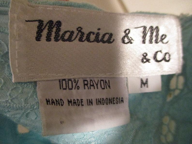 Marcia /& Me and Co aqua 34 sleeve embroidered tunic
