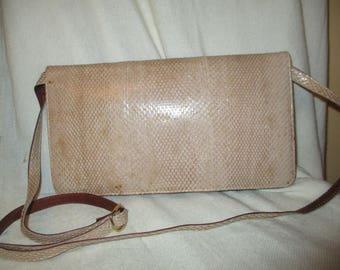 Vintage snake skin clutch/cross body shoulder bag