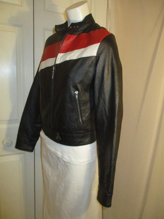 FJ leather moto jacket - image 4