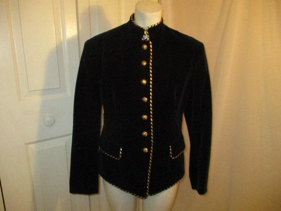 Evan Picone velvet military blazer/jacket - image 1