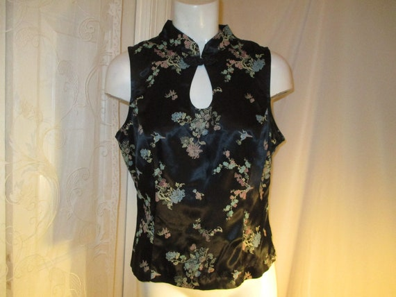 All That Jazz sleeveless oriental style top