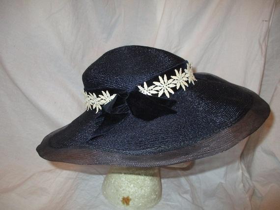 Fisk Chicago wide brim straw hat - image 4
