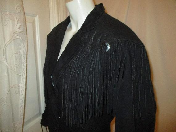 G III fringed cropped leather jacket - image 8