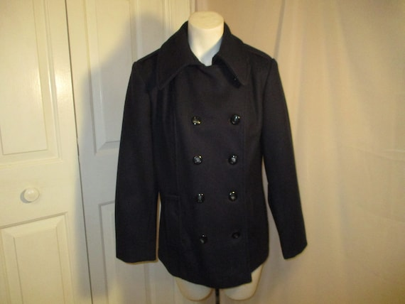 Opera navy pea coat