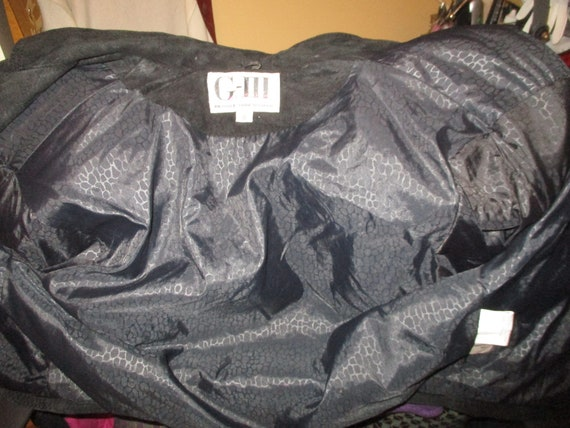 G III fringed cropped leather jacket - image 9
