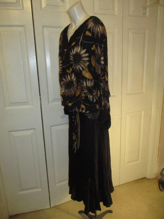 Carole Little sunflower print blouson dress - image 8
