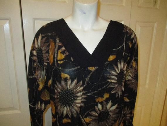 Carole Little sunflower print blouson dress - image 2