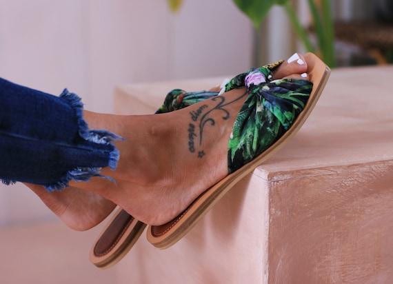 Leather slides, Women sandals, Greek leather sandals, Slides sandals, Jungle sandals, Gift for her, Griechische Sandalen, JUNGLE SLIDES