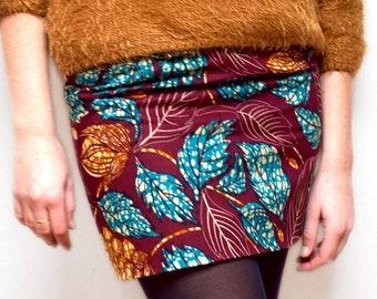 Ankara print skirt, Africa reversible short skirt for all season, lovely mini skirt or sexy skirt