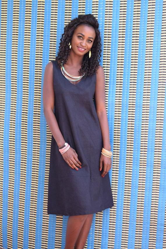 Backless dress sleeveless dress summer dress in cotton dyed  491b3b48a