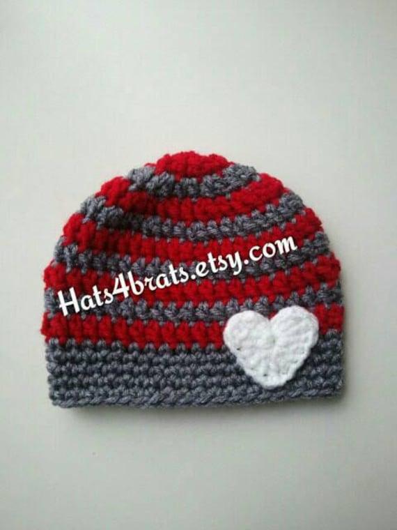 Baby Valentine S Day Hat Crochet Valentine S Day Hat Etsy