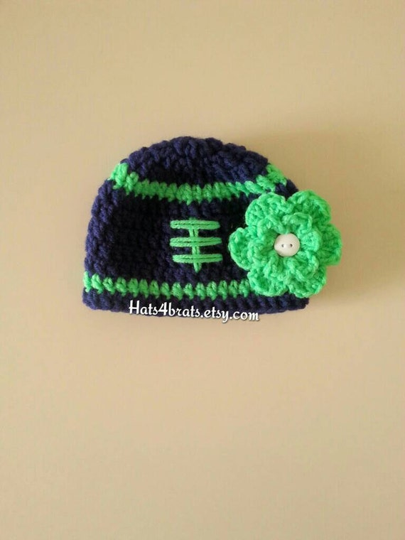 Seattle Seahawks Baby Hat Baby Crochet Football Hat Baby  add956da1a9