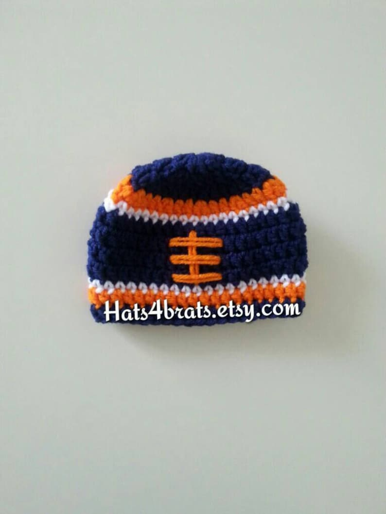 96356a7f3 Baby Denver Broncos Hat Crochet Broncos Hat Denver Broncos