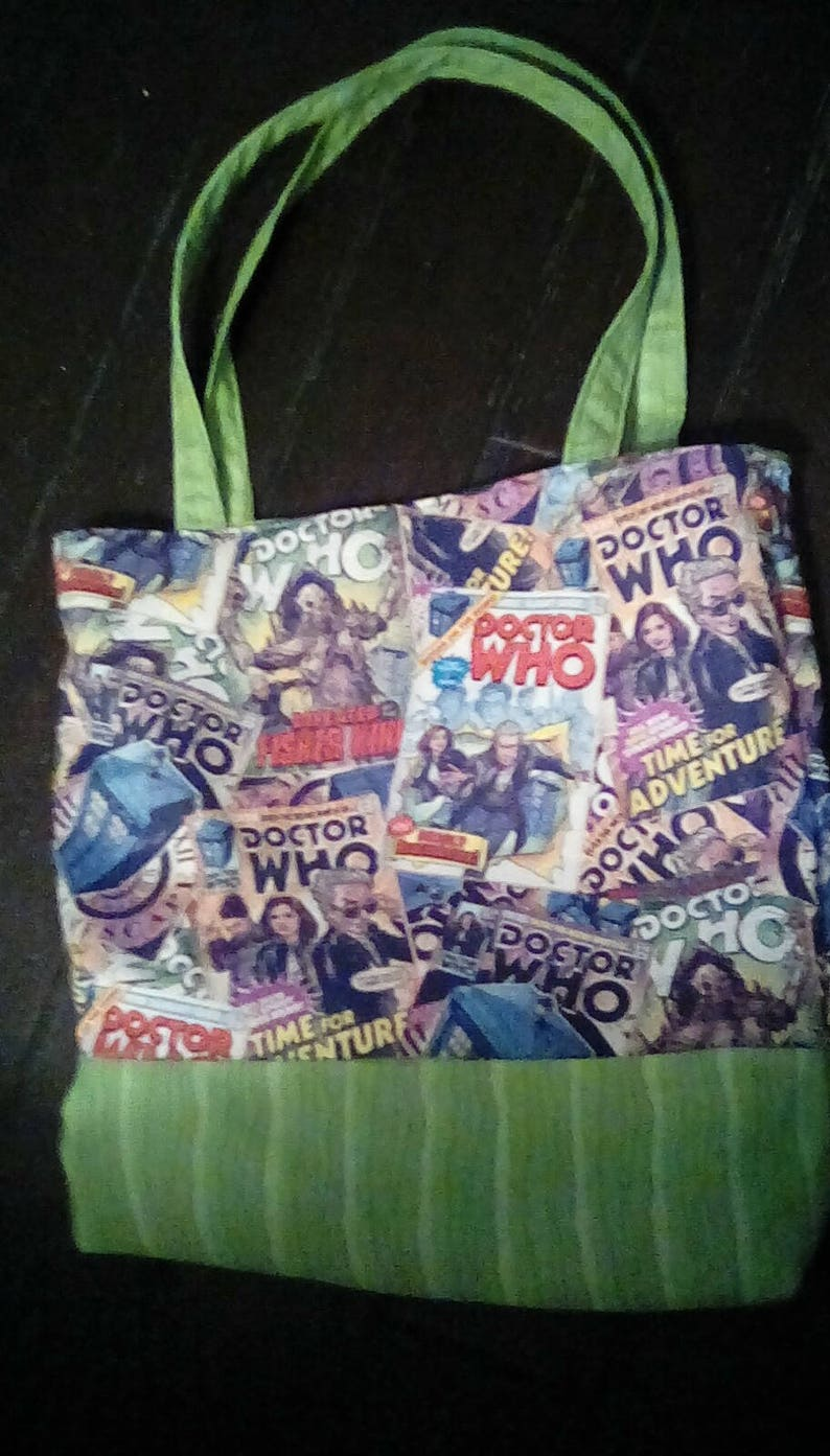 Dr Who Art Covers Tote Eco Shopper Grocery Market Bag