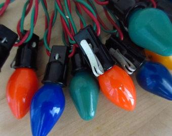 vintage strand of christmas lights christmas bulbs retro christmas bulbs colored christmas bulbs large christmas light