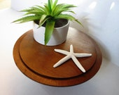 Vintage Treenware Wooden Pedestal Stand Kitchen Storage and Display Counter Stand Cake Stand