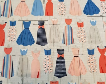 Scrap Fabric sewing blue and red set