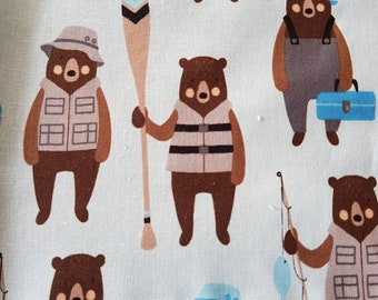 Robert Kaufman scrap Fabric bears Set