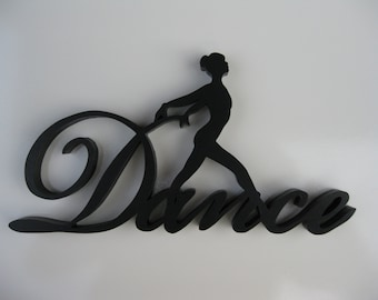 Dance / Dancer - One Piece Wood Wall Hanging