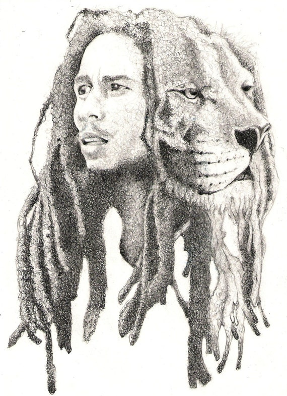 Lion Of Zion Bob Marley Limited Edition Art Print Etsy