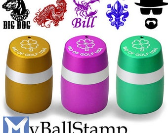 "WO Golf Ball Stamps - Large Format 1.0"" Diameter"