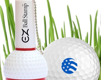 American Flag Golf Ball Stamp  - Blue