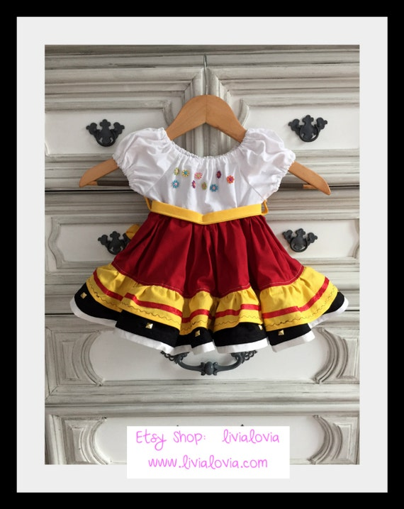 Ladies Red Maria Posada Skirt Book Of Life Day of the Dead Fancy Dress