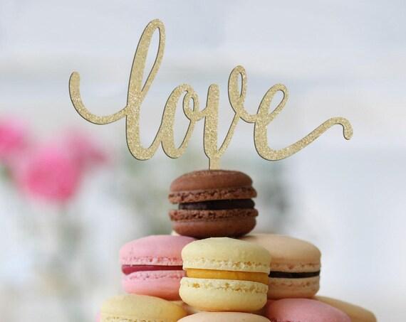 Cake Topper For Wedding, Love Cake Topper, Bridal Shower Cake Topper, Rose Gold Cake Topper, Cake Topper Wedding, Cake Topper