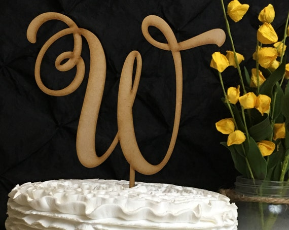 Monogram Cake Topper, Letter Cake Topper, Wedding Cake Toppers, Custom Cake Topper, Wedding Monogram, Cake Toppers for Wedding, Rustic Cake